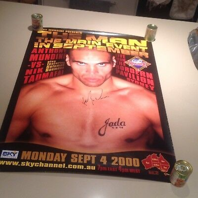 ANTHONY MUNDINE Personally Signed Boxing Poster