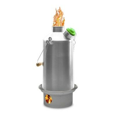 'Base Camp' Kelly Kettle (Stainless Steel) 1.6 ltr for Camping, Scouts, Picnics