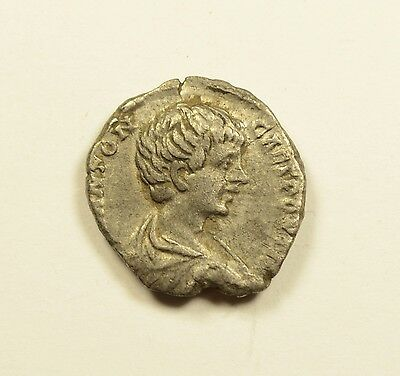 GETA as Caesar 200AD Silver Authentic Ancient Roman Coin Trophy