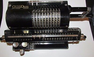 Antique Mechanical Pinwheel Calculator - Original Odhner 602 5-Goteborg Sverige