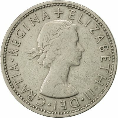 [#420084] Great Britain, Elizabeth II, Florin, Two Shillings, 1960, EF(40-45)