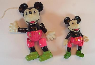 Celluloid Muster 2 Stück Mickey Mouse Figur 10 & 7,5cm 50er Jh. Japan #5