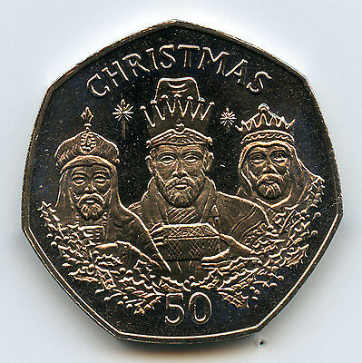Genuine 1988 Gibraltar Christmas 50 Pence | UNC Details