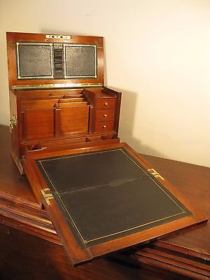 Stationary Correspondence Cabinet Antique Victorian Vintage Walnut Writing Slope