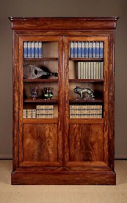 Antique 18th.c. Mahogany Bookcase or Bibliotheque c.1830.