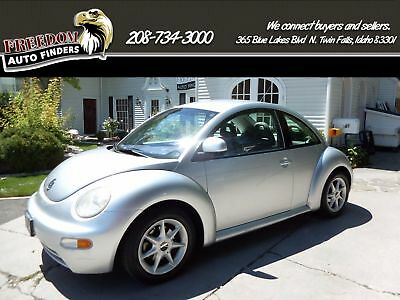 1998 Volkswagen New Beetle Base Hatchback 2-Door 1998 Silver Volkswagen Beetle Gray Low Miles Clean Manual Front Wheel Drive