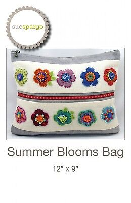 SUMMER BLOOMS BAG HAND EMBROIDERY PATTERN, From Sue Spargo Folk-Art Quilts,*NEW*