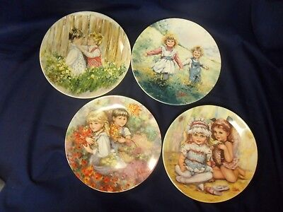 Wedgewood~ My Memories Collector Plates Series 1-4  Mary Vickers  Jw34-37