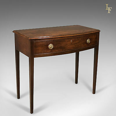 Antique Side Table, Mahogany, Bow Fronted, George III, English, Hall c.1770
