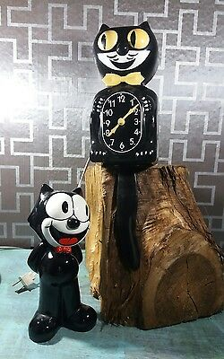Vintage Felix the cat Kit Cat Klock and bank