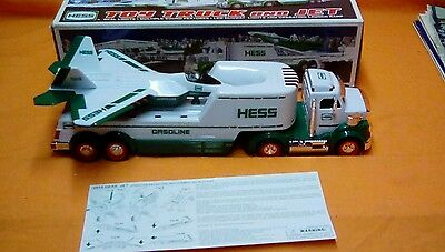2010 Hess toy truck and jet  in box