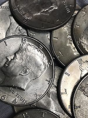 Survival Money 1964 Kennedy Half Dollar 90% Silver Circulated 50 Cents Cent Coin
