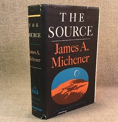 The Source By James A. Michener - 1st Edition Hardcover Book W/ DJ