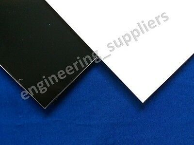 Large Black and White Square HIPS Plasticard Sheet 1, 1.5, 2 & 3mm thick Max 1m