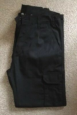 Men's Black Condor Combat Cargo Work Trousers