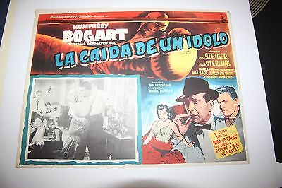 Original Vintage The Harder They Fall Humphrey Bogart's Last Movie Mexican Lobby