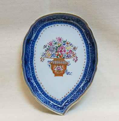 portuguese porcelain spoon tray from Mottahedeh collection