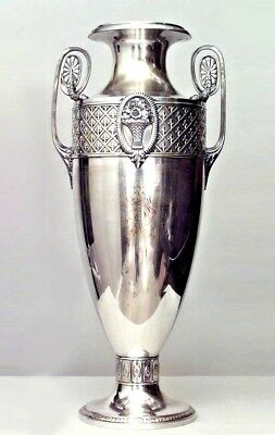 English Victorian Large Silver Plated Urn