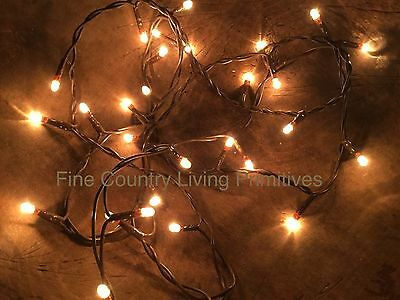 Primitive Country Teeny Rice String Lights ~ 50 Count Christmas in July