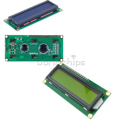 Blue/Yellow 1602LCD HD44780 Character Display Module 5V for Arduino Raspberry Pi