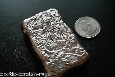 Antique American Sterling Silver School of Fish Match Safe