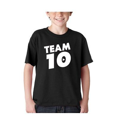 Team 10 New Kids Youth size Jake Paul Tie Dye T Shirt White