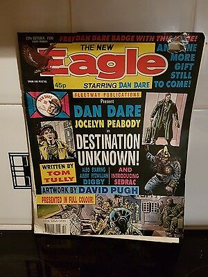 The New Eagle Comic With Dane Dare 3 ; The Escape Pin Badge , 20th Oct 1990