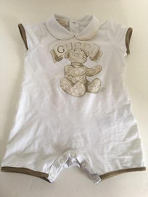 Authentic Gucci Unisex Boy/Girl Baby Romper, One Piece Outfit 6-9 Months