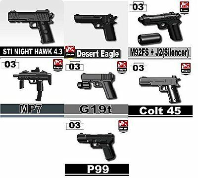 Pistol Pack of custom Army weapons designed for LEGO® minifigures