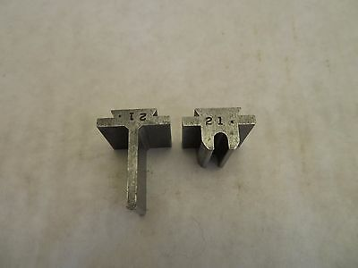 Helmold JA Richards Steel Rule 2 Pc Bending Die Set # 21 Tool