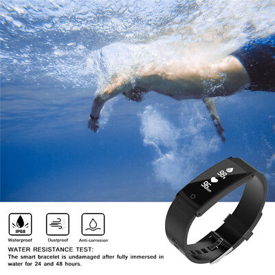 IP68 Blood Pressure Heart Rate Monitor Waterproof Smart Wristband Watch Bracelet