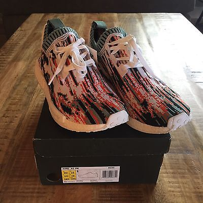 competitive price b4594 48096 NEW Adidas NMD R1 Data Mosh Red Orange Teal Black White BOOST US Size 10.5