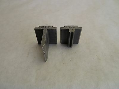 Helmold JA Richards Steel Rule 2 Pc Bending Die Set # 413 Tool