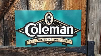 Coleman lantern sign - carved wood reproduction of original - FREE Shipping!