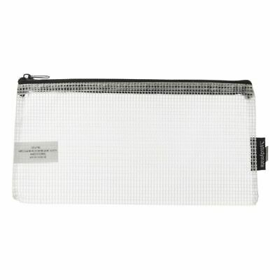 Studymate Single Zip Mesh Pencil Case 228 x 118mm White