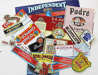Vintage LABELS LOT Soda Beer Fruit NEW OLD STOCK Ephemera