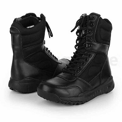 Men's Military Ankle Boots High Top Leather Army Combat SWAT Hunting Work Shoes