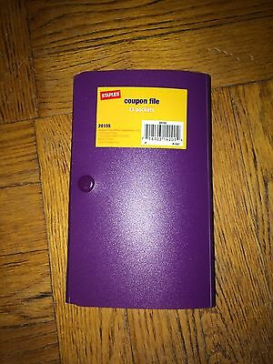 Staples Coupon File - Purple