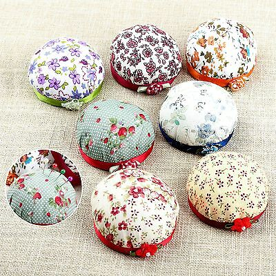 Cross Stitch Needle Cushion Kit Accessory Wooden Base Cotton Cloth Handmade DIY