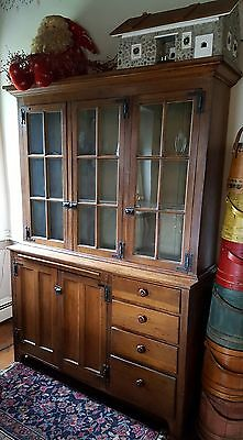antique Dutch step-back cupboard poplar