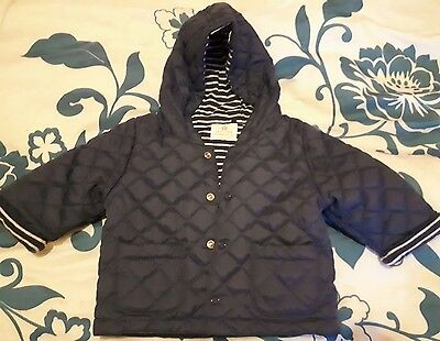 Next baby boys quilted hooded jacket