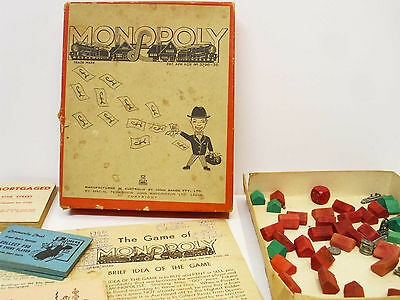 1930's Monopoly Trade Mark Board Game Aus. J. Sands Vintage As Is Complete Yours