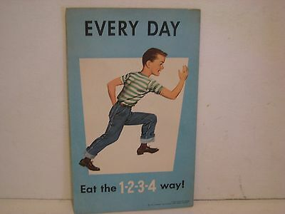 1963  Eat The Same 1, 2, 3, 4 Way .Booklet Poster National Dairy Council