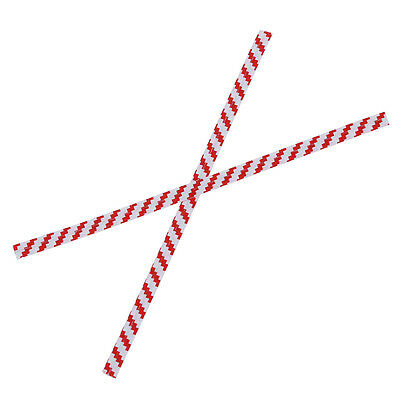 100 Pcs Red Stripe Paper Twist Ties for Cello Candy Bags Party YESO
