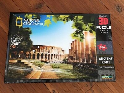 National Geographic Ancient Rome The Colosseum  3D Holographic Puzzle 500 Piece