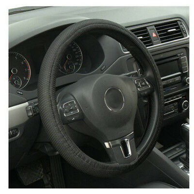 Universal Leather Car Auto Steering Wheel Cover  Elastic Skidproof Cover UK