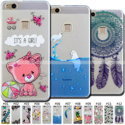 Rubber Soft Skin Shockproof Cover TPU Protective Case Back For Huawei P10 Lite