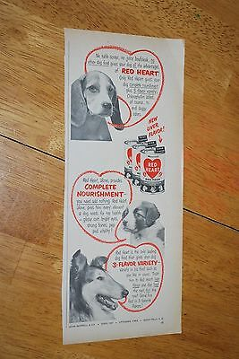 Red Heart Dog Food 1953 February Better Homes and Garden Magazine Ad VG++