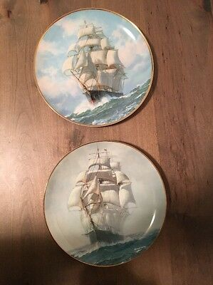 Charles Vickery Golden Age of the Clipper Ships Plate Set Of 2