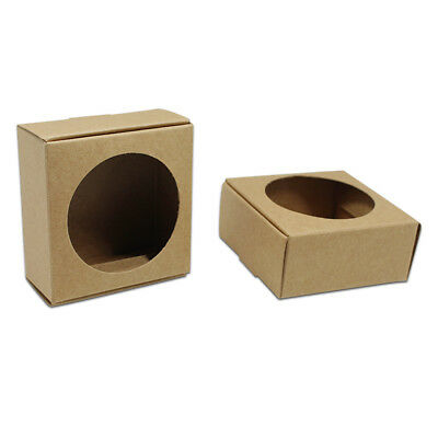 Kraft Paper Box Wedding Party Favour Gift Candy Cookies Boxes With Round Window